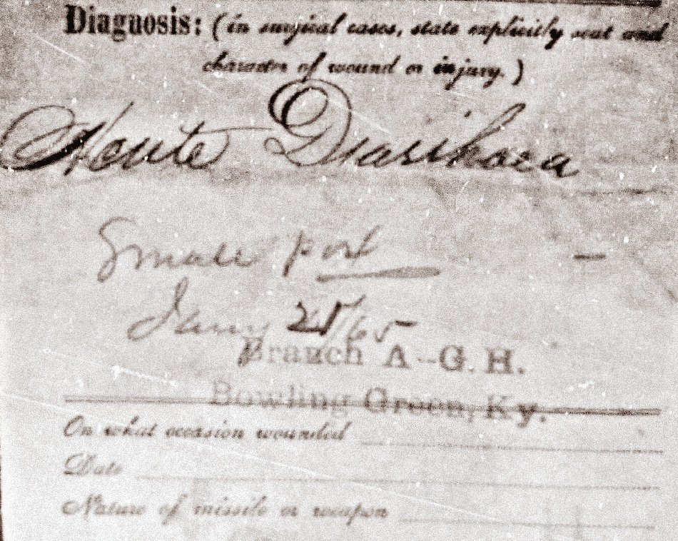 Lewis Stewart Civil War Hospital Diagnosis