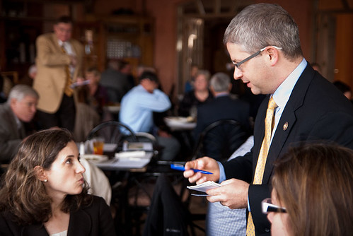 Rep. Patrick McHenry speaking Nov. 10 at CIBO luncheon