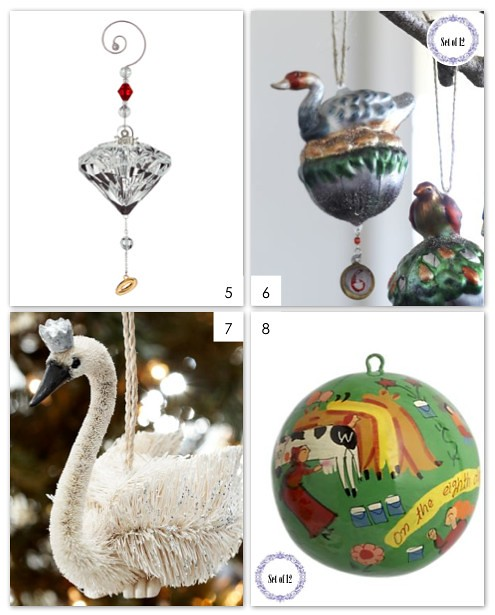 12 Days Of Christmas Ornaments 5-8