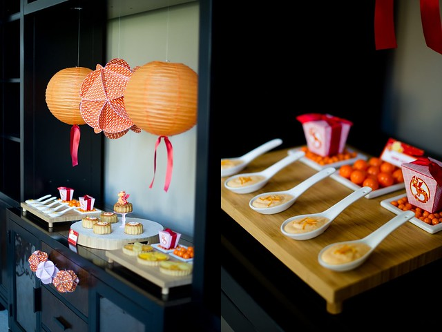 Chinese New Year Dessert Table for Bird's Party Magazine
