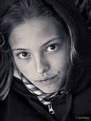 Florie Portrait (blazouf) Tags: famille portrait blackandwhite bw white black face blackwhite child noiretblanc olympus enfant zuiko 45mm visage blazouf noirblanc m43 gf1 mft blackandwhiteportrait outdoorportrait naturallightportrait micro43 45mm18 olympus45mm olympusm45mmf18