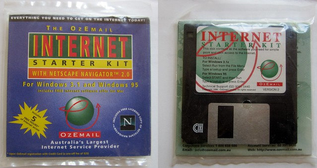 Ozemail disk from 1996