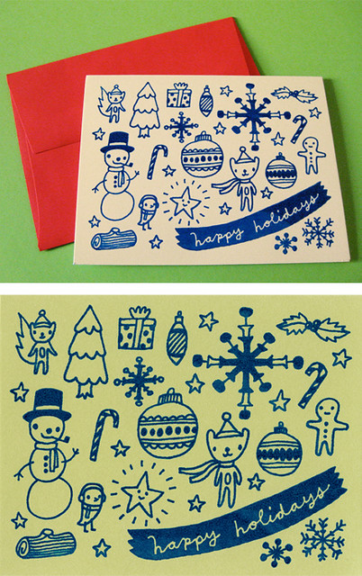 holiday cards on etsy