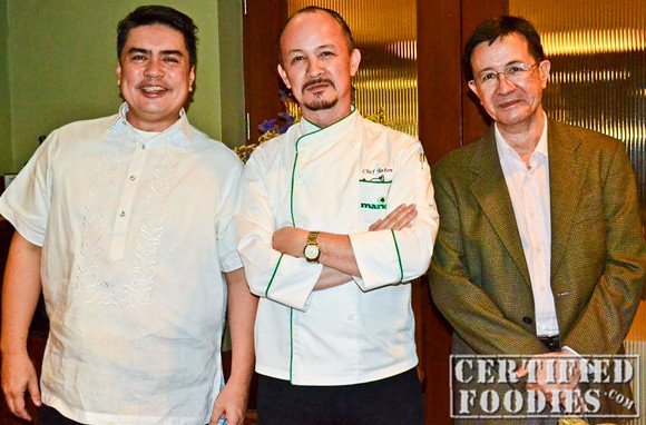 Spanky Enriquez, Chef Anton Benitez, and Sir Jose Fil Benitez