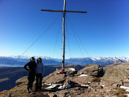 Gipfelkreuz auf der Sarner Scharte (2.460m)