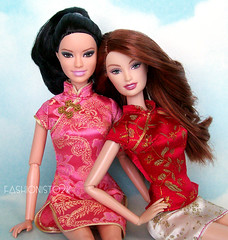 Asian Persuasion (fashionisto2k) Tags: fashion asian dolls barbie drew redhead clothes clutch mattel fever fashionistas raquelle fashionfever