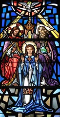 Mary Crowned as Queen of Heaven (Loci Lenar) Tags: new news art catholic image rss jesus nj images blogs verona catholicchurch bloglines feed christianity virginmary stainedglasswindow feeds ourladyofthelake christianart