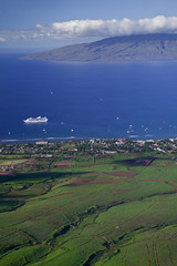"Aerial of Lahaina, Maui (IronRodArt - Royce Bair (""Star Shooter"")) Tags: ocean travel blue sea vacation seascape landscape island hawaii paradise view pacific maui aerial tropical lush lahaina lanai"