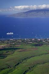"Aerial of Lahaina, Maui (IronRodArt - Royce Bair (""Star Shooter"")) Tags: ocean travel blue sea vacation seascape landscape island hawaii paradise view pacific maui aerial tropical lush lahaina lanai"
