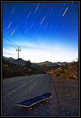 Skating through the Night (PatrickJamesPhoto) Tags: california ca longexposure sky mountains nature night star coast long exposure outdoor trails lososos skate skateboard centralcoast slo sanluisobispo pentaxk10d noctography