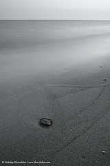 Monochrome photo of seascape_2 (nickolay_khoroshkov) Tags: ocean old sea sky white seascape abstract black beach nature monochrome vintage landscape bay coast sand long exposure background shell calm retro coastal coastline hoizon