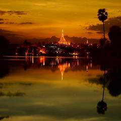 Shwedagon Pagoda (Elf-Y) Tags: canon ir pagoda buddha shwedagon yangon buddhism filter infrared 5d myanmar