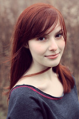 KAYLA (lauren s_) Tags: portrait fall nature girl smile hair outside model soft pretty skin sweet young headshot smirk elegant redhair