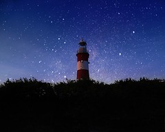 You must be my lucky star (lionlam132) Tags: trees sky tower night stars bushes smeatons fantical