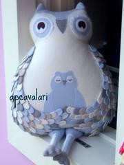 Azul para um menino (AP.CAVALARI / ANA PAULA) Tags: owl coruja ateliê arteemtecido anapaulacavalari owlfélia apcvalari