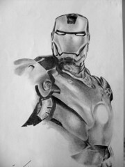 iron man (Agliclio Arte  lpis) Tags: retratos lpis desenho realismo hiper realista sombreamento