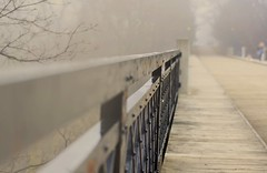 Another Misty Morning (Pete A. McLeod) Tags: bridge rain fog aperture dof mcleod nikcolorefexpro nikkor50mm12 nikond7000 cedervalebridgetorontoontariocanada