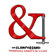 Clampersand (lunchbreath) Tags: clamp typography ampersand superiority lunchbreath clampersand clamposity