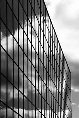 A Wall of Glass (PeteZab) Tags: uk england urban blackandwhite bw cloud reflection building window glass architecture modern mono birmingham canoneos50d petezab peterzabulis sigma1770f284dcmacroos