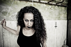 She devil (Funky64 (www.lucarossato.com)) Tags: hair cross makeup chain occhi devil simona mistress diavolo capelli trucco catene corce lucarossato funky64