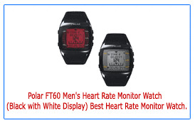Best-Price-Polar-FT60-Men's-Heart-Rate-Monitor-Watch-(Black-with-White-Display)