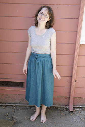 Thrift skirt: Before.