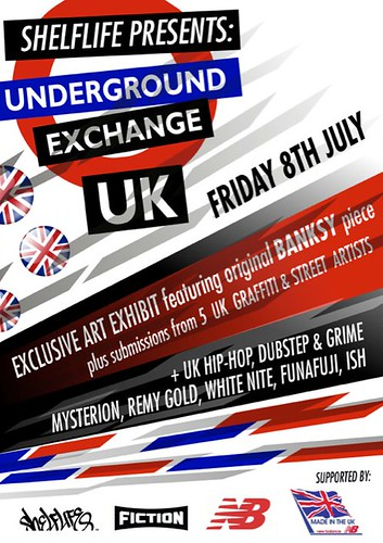 SHELFLIFE & FICTION PRESENT: UNDERGROUND EXCHANGE UK