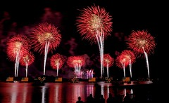 Happy 4th of July (Don Sullivan) Tags: world night reflections day fireworks disney wdw waltdisneyworld july4th independence walt magickingdom ef2470mmf28lusm polynesianresort sevenseaslagoon baylakefl
