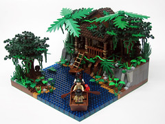Tia Dalma's Shack (_Matn) Tags: tree forest lego swamp greenery shack piratesofthecaribbean jacksparrow tiadalma foitsop