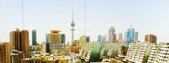 Kuwait Breezy (morretino lee kenneth) Tags: sky building art skyline architecture desert middleeast oasis summertime kuwait kuwaitcity