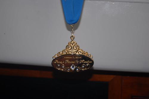 Disney Princess Half Marathon Medal 2010