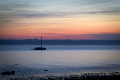 Weston beach (TomBaldwinPhotography) Tags: silhouette tom speed landscape photography boat long exposure shutter baldwin