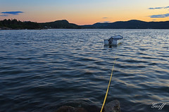 Moored (gwhiteway) Tags: ocean sunset summer canada newfoundland boat fishing vessel rope atlantic nl