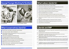 Conservative General Election leaflet, 1983 (Scottish Political Archive) Tags: party scotland election scottish conservative mp 1983 ayr publicity campaign younger secretaryofstate