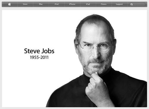 Apple.com on the day of Steve Jobs death