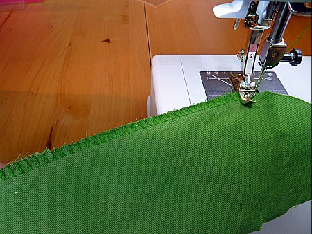 Overlook stitch on home sewing machine