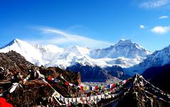 Cho Oyu (lileepod) Tags: nepal mountain snow nature trek landscape prayer flags prayerflags himalaya highaltitude chooyu highelevation ngozumbaglacier