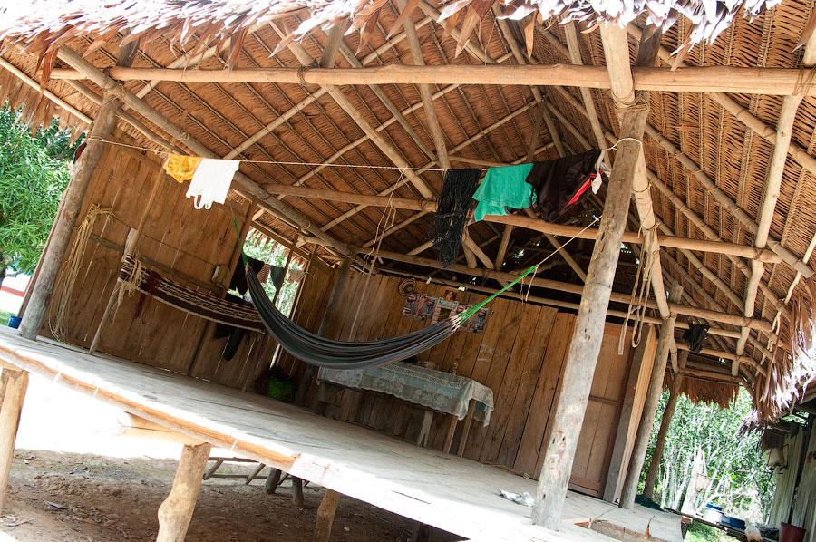 Домик индейцев в лесу. Амазонка, Перу 2011 © Kartzon Dream - авторские путешествия, авторские туры в Перу, тревел видео, фототуры