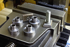 T Nuts On a Vice (tudedude) Tags: macro thread screw model steel machine engineering tools workshop bolt precision nut fitting wingnut gbr fastener threaded nutbolt hexhead allenkey caphead machinescrew countersunk posidrive tudedude