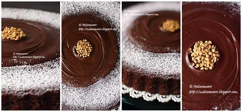 torta al tripo cioccolato (fondente, cacao e gocc)