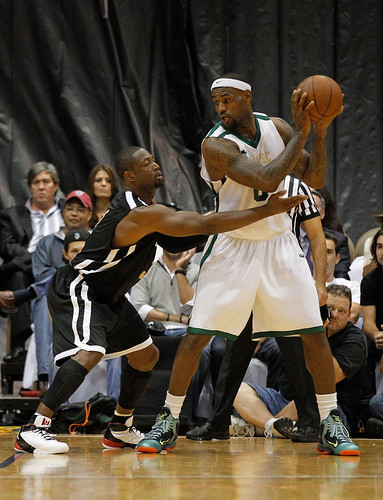 LeBron James, Dwyane Wade and Chris Bosh South Florida All Star Classic Pictures