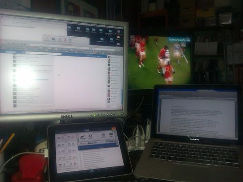 Postazione digitale di rugby maniaco