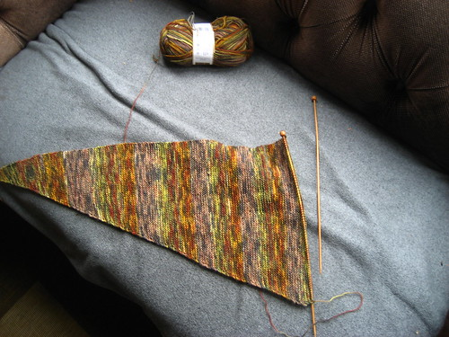 Baktus scarf - turning the coner