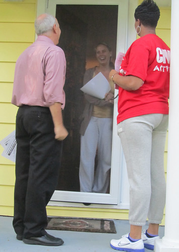 Canvassing in Ohio with Larry