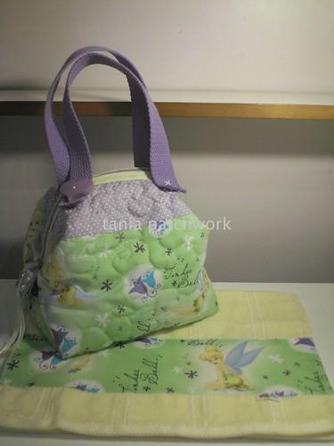 Bolsinha e toalhinha de mão Sininho by tania patchwork
