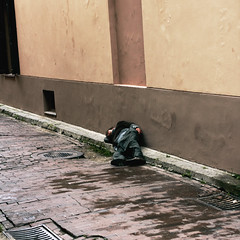 Sleeping (5) (Magne M) Tags: street sleeping man square escape sleep poor social trouble alcohol uncomfortable curb problems lithuania vilnius abuse lietuva postsoviet socialproblems sleepingseries