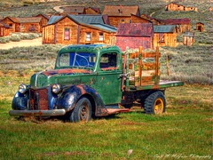 Bodie State Historic Park, CA Antique Truck (Scott M. McGuire) Tags: california ca sony rights bodie bridgeport reserved hdr allrightsreserved goldrush sierranevadamountains ghosttowns exposurebracketing antiquetruck bodiestatehistoricpark sonydsch5 scottmcguirephotography ghosttownmining