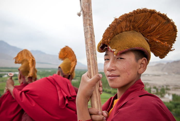 Tibetan monk | Ladack India  | Ceremony in thiksey