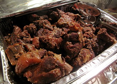 Jerk pork one of several meat/seafood dishes