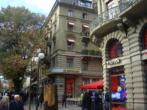 Vista desde la Bahnhofstrasse